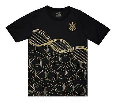 Camiseta Infantil Corinthians Preta DNA Manga Curta Oficial