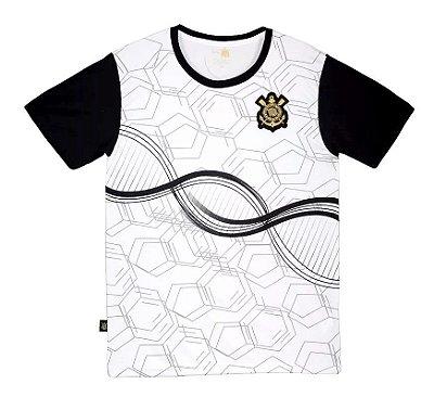 Camiseta Infantil Corinthians Branca DNA Manga Curta Oficial