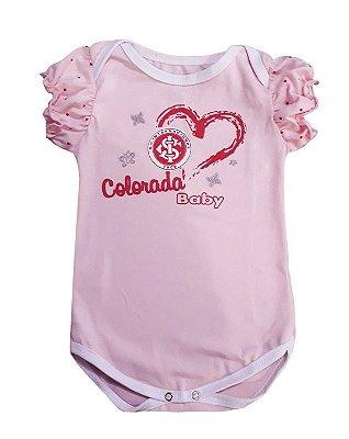 Body Bebê Internacional Rosa Menina Colorada Oficial