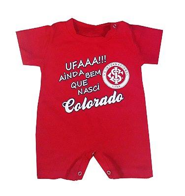 Macacão Bebê Internacional Curto Colorado Oficial