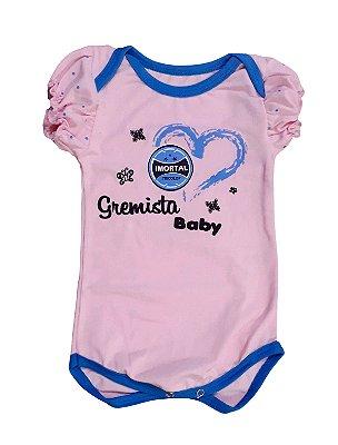 Body Bebê Imortal Tricolor Rosa