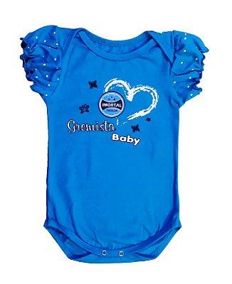 Body Bebê Imortal Tricolor Azul