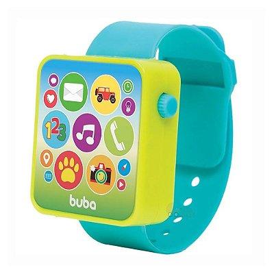 Relógio Musical Bebê Baby Watch Azul Buba