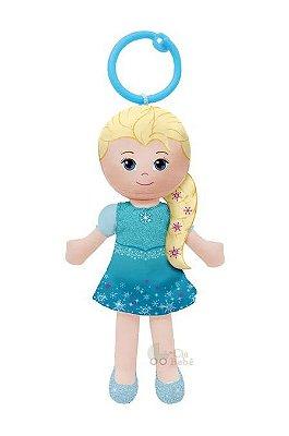 Chaveirinho de Pelúcia Princesa Elsa Frozen 15cm Buba
