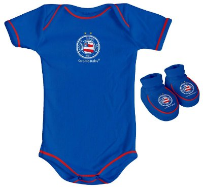 Kit Bebê Bahia 2 Peças Azul Torcida Baby