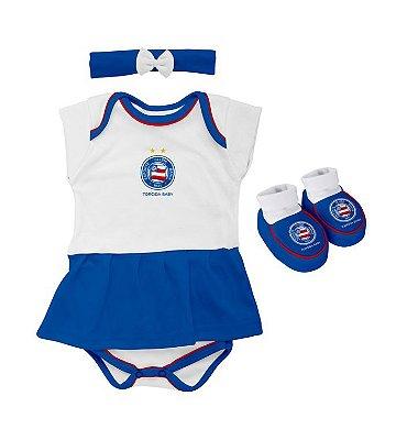 Kit Bebê Bahia 3 Peças Menina Torcida Baby