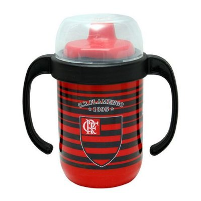 Copo Flamengo Antivazamento com Alça Lolly 250ml