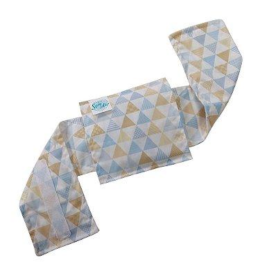 Bolsa Térmica Bebê Sem Cólica Com Cinta Triângulo Azul