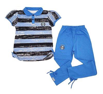 Conjunto Infantil Grêmio Polo e Legging Oficial