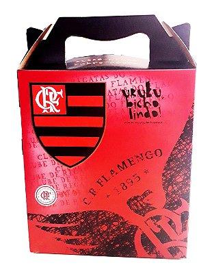 Caixa Para Presente Flamengo 21x18 Cm Oficial