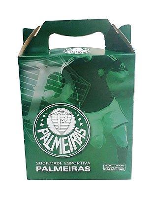 Caixa Para Presente Palmeiras 21x18 Cm Oficial