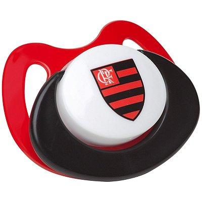 Chupeta Flamengo Silicone Vermelha Orto Tam 2 - Lolly