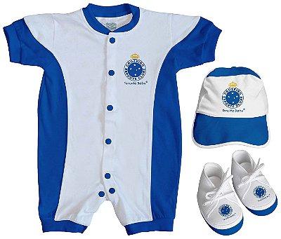 Kit Bebê Cruzeiro 3 Peças Torcida Baby