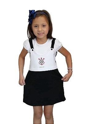 Vestido Infantil Corinthians Com Alça - Torcida Baby