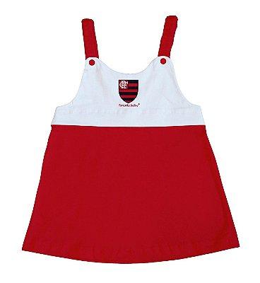 Vestido Infantil Flamengo Com Alça - Torcida Baby