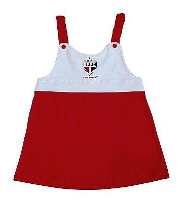 Vestido Infantil São Paulo Com Alça - Torcida Baby