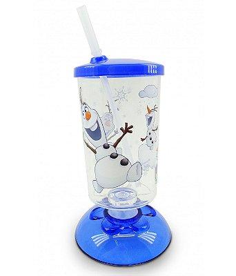 Copo Com Canudo Articulado Olaf Frozen 250ml - Disney