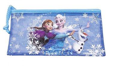 Necessaire Azul Anna Elsa & Olaf Frozen 11X20cm