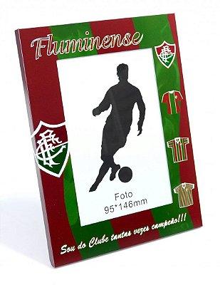 Porta Retrato Fluminense De Alumínio Para 1 Foto 10x15cm