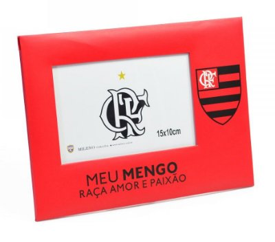 Porta Retrato Flamengo De Papel Para 1 Foto 15x10cm