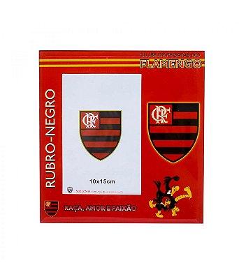 Porta Retrato Flamengo De Vidro Para 1 Foto 15x10cm