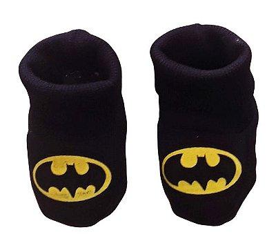 Pantufa Meia Bebê Moletom Batman