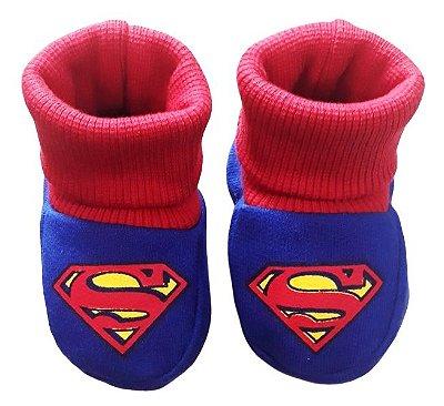 Pantufa Meia Bebê Moletom Superman