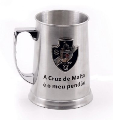 Caneca De Chopp Inox do Vasco 420ml