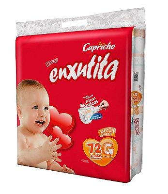 Fralda Bebê Capricho Enxutita Tam G Com 72 Un