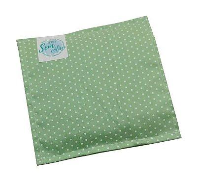 Bolsa Térmica de Sementes Bebê Sem Cólica Poá Verde