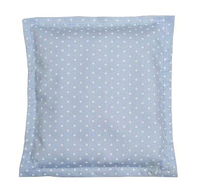 Bolsa Térmica de Sementes Bebê Sem Cólica Poá Azul