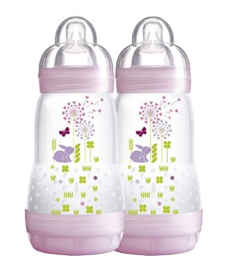 Mamadeira First Bottle 260 Ml Mam Dupla - Rosa