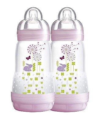 Mamadeira First Bottle 260 Ml Mam Dupla - Rosa
