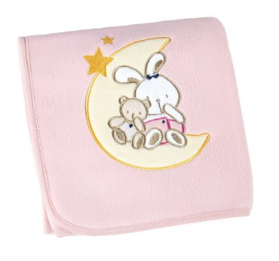 Manta Bebê Fleece Bordada Mini Rosa - Lepper