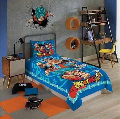 Jogo de Cama Infantil Dragon Ball 2 Pçs 1,50 x 2,10m - Lepper