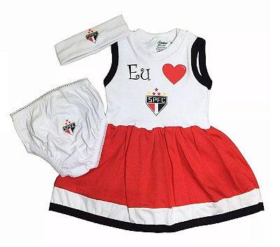 Vestido Bebê São Paulo com Calcinha e Tiara