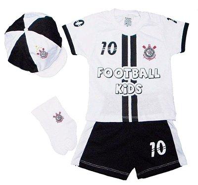 Conjunto Bebê Corinthians com 4 Peças