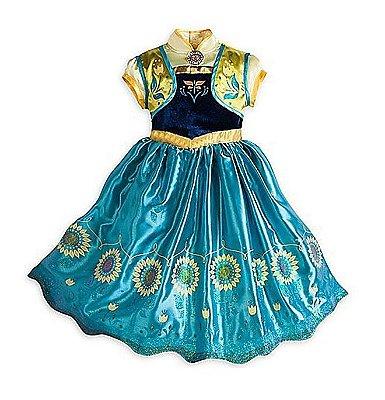 Vestido Fantasia Anna Frozen Fever