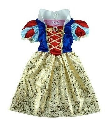 Vestido Fantasia Branca de Neve Infantil