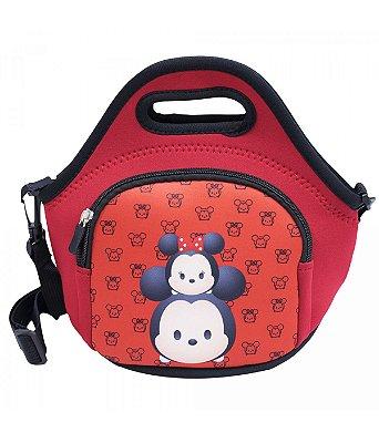 Bolsa Térmica Vermelha Mickey Minnie Tsumtsum 25X28cm