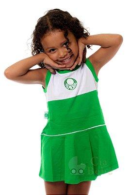 Vestido Palmeiras Bebê Infantil Regata Revedor