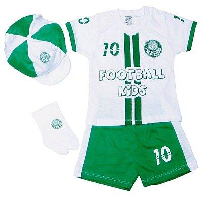 Conjunto Bebê Palmeiras com 4 Peças