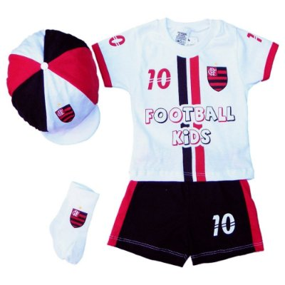 Conjunto Bebê Flamengo com 4 Peças