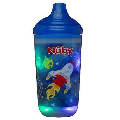 Copo Infatil Térmico Pisca Pisca Azul 300ml Nûby