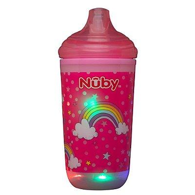 Copo Infantil Térmico Pisca Pisca Rosa 300ml Nûby