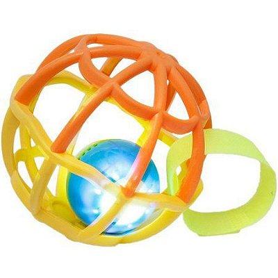 Bola Baby Ball Amarelo Com Luz e Som Buba
