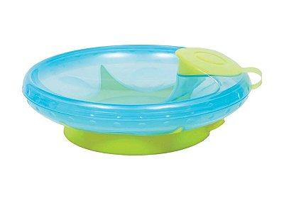 Prato Térmico Com Ventosa Azul Buba
