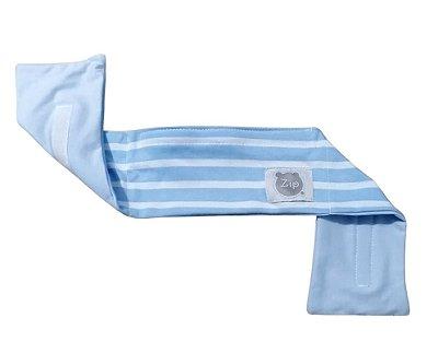 Faixa Térmica Abdominal Bebê Com Ervas Azul Zip