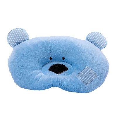 Travesseiro Bebê Ursinho Azul Zip