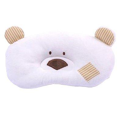Travesseiro Bebê Ursinho Marfim Zip